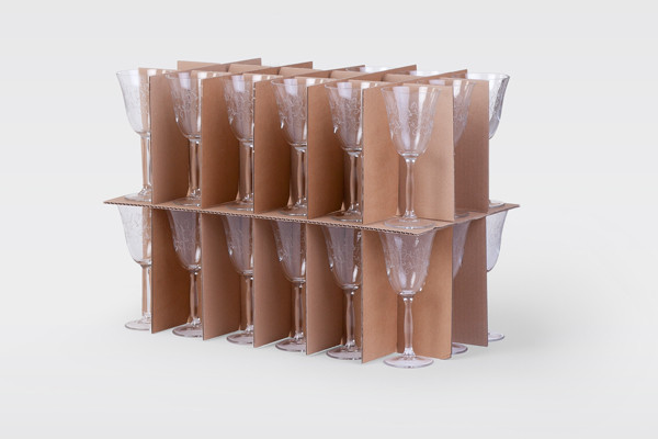 Gläsereinsatz für Wäsche-Geschirrkarton